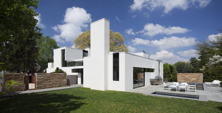 Casa de estilo suburbano - The edgemoor residence by david jameson architect ...
