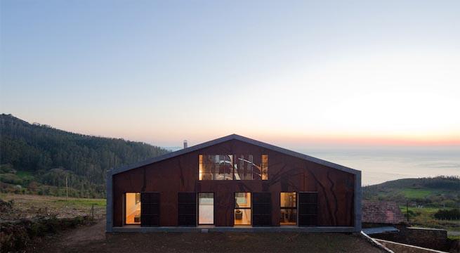 moderna casa prefabricada en galicia