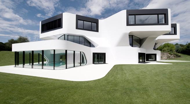 Vivienda futurista en alemania for Casas futuristas