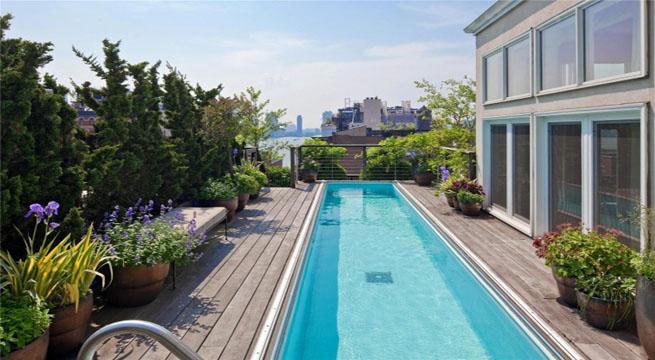 Tico de lujo con piscina - Piscinas para terrazas aticos ...