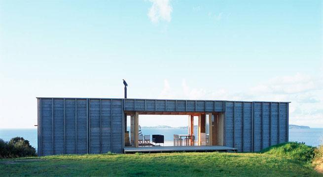 Casa contenedor en un para so neozeland s - Diseno de casas con contenedores ...