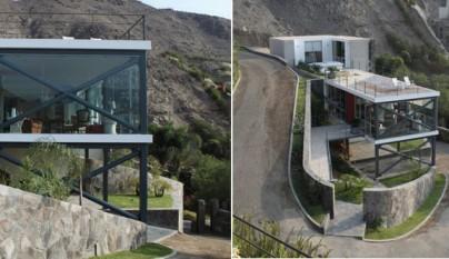 Casa a base de terrazas en lima for Casa minimalista lima