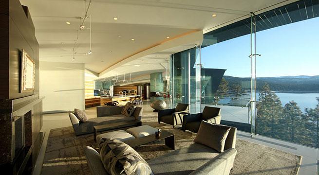 Casa de lujo en el lago tahoe - Interiores de lujo ...