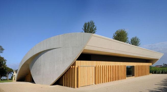 Bodegas chateau blanc un proyecto futurista - Diseno de bodegas ...