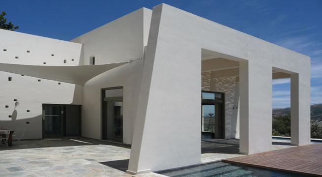 Casa moderna y clasica en una isla griega Casa clasica moderna