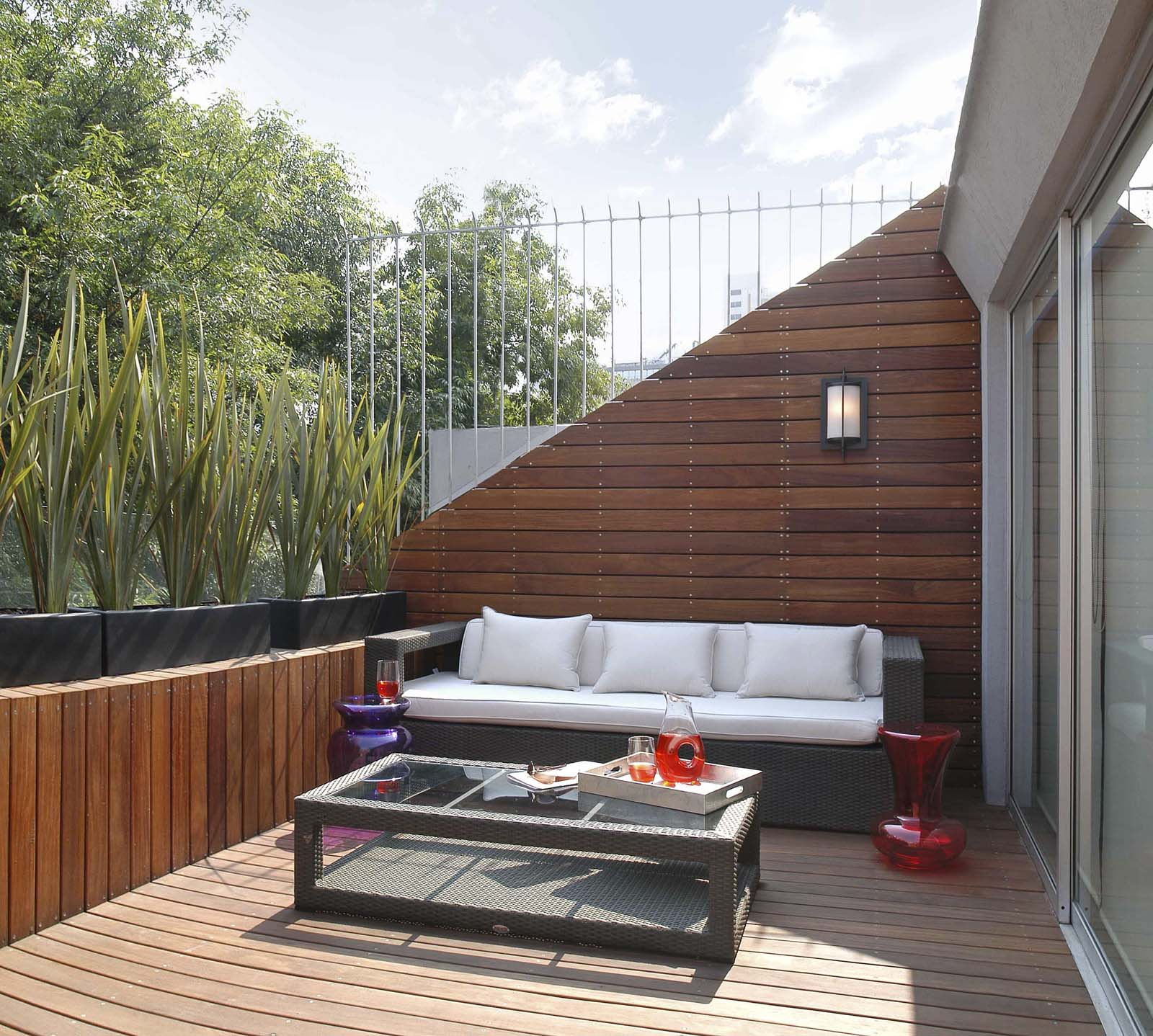 Decoarq arquitectura decorativa for Living de madera para terraza
