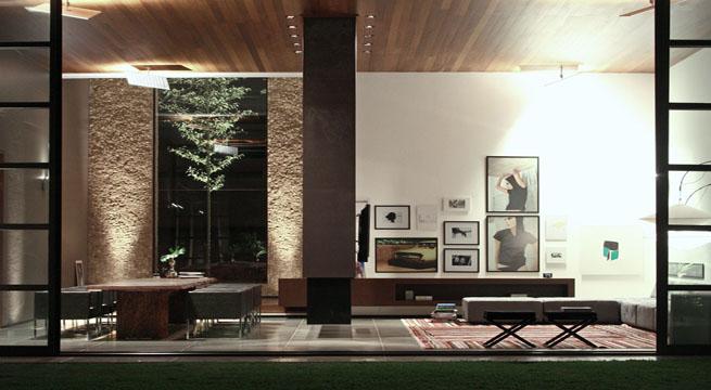 Casa minimalista en brasil for Casa minimalista con piscina