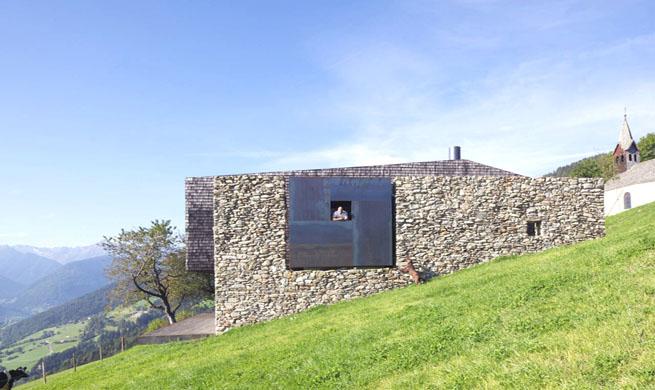 Granja vanguardista de piedra y metal - Casa rural la granja ...