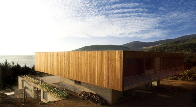 Casa de lujo de madera y hormig n - Casas por modulos de hormigon ...
