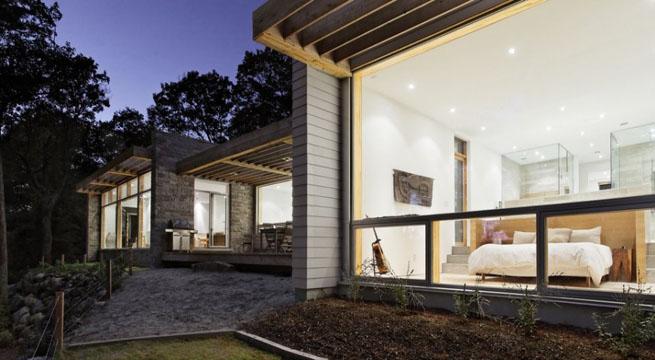 casas de piedra y madera