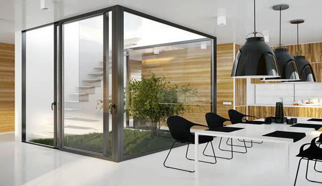 Casa en una sola planta organizada en torno a un patio - Planos de casas con patio interior ...