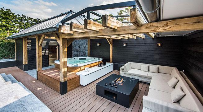 Espectacular patio de agua en una casa holandesa for Patios con piscinas desmontables