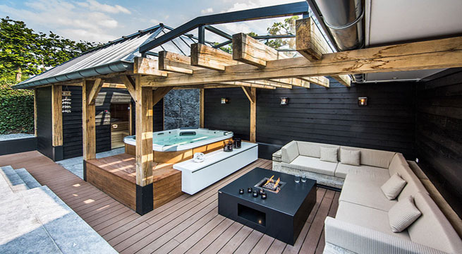 Decoarq arquitectura decorativa for Patios con piscina