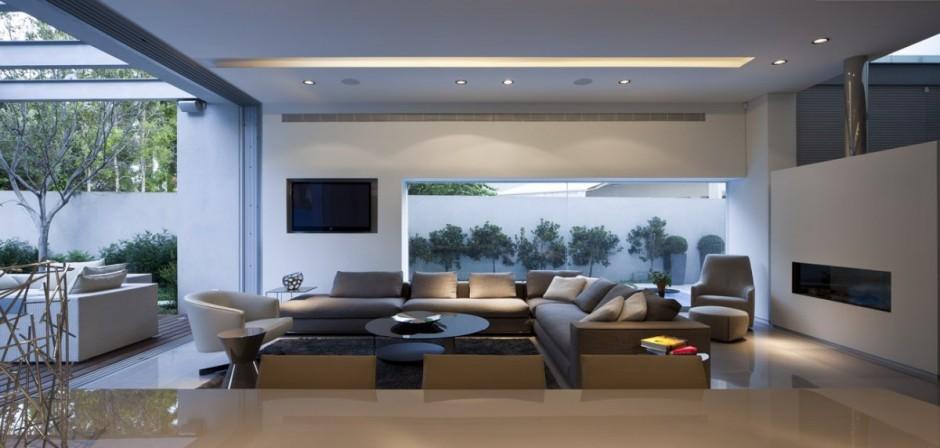 Casa minimalista y elegante en israel for Interior casa minimalista