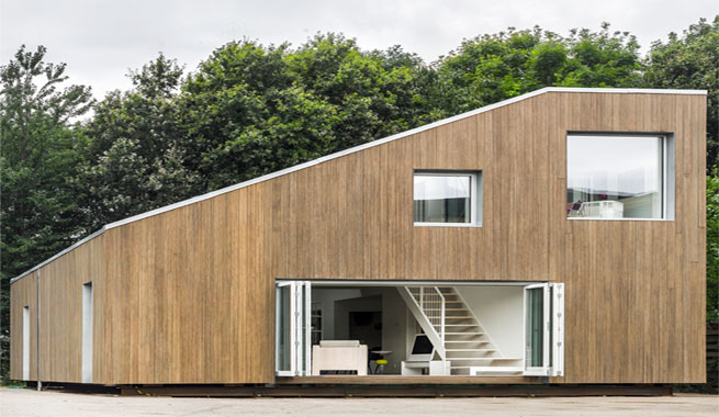 Casa con estructura de contenedores - Casa de contenedores ...