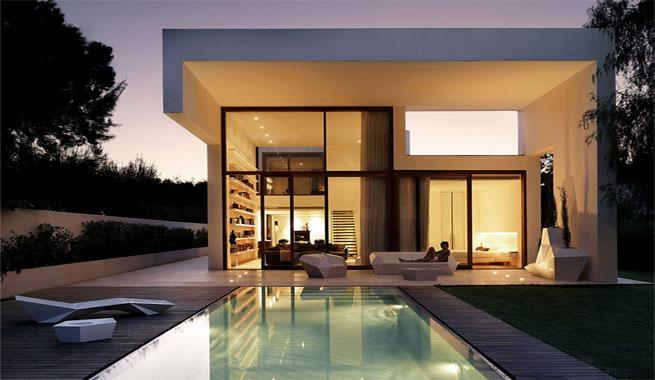 Casa minimalista en rocafort for Casa tipo minimalista