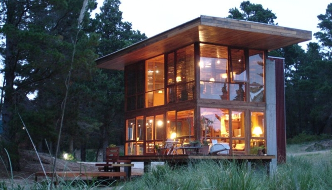 Casa de cristal y madera en medio del bosque - Tocar madera casas ...