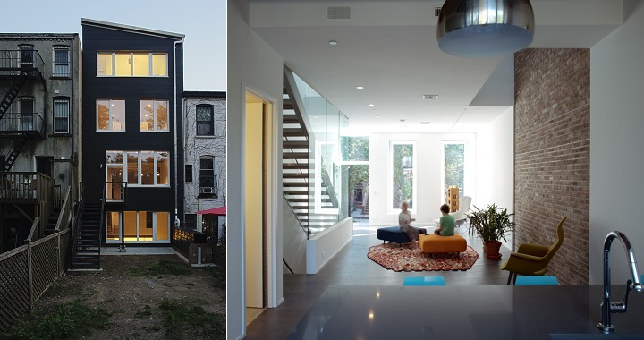 Decoarq arquitectura decorativa for Casas largas y estrechas