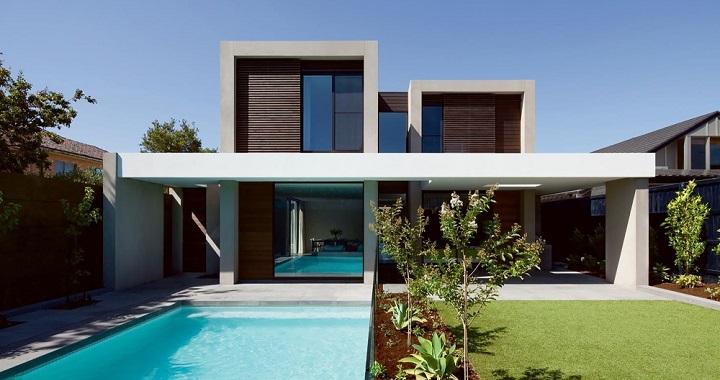 Casa de lujo con piscina en australia for Casa moderna con piscina