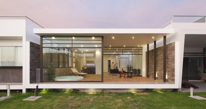 Casa de estilo zen en per for Casas modernas estilo zen