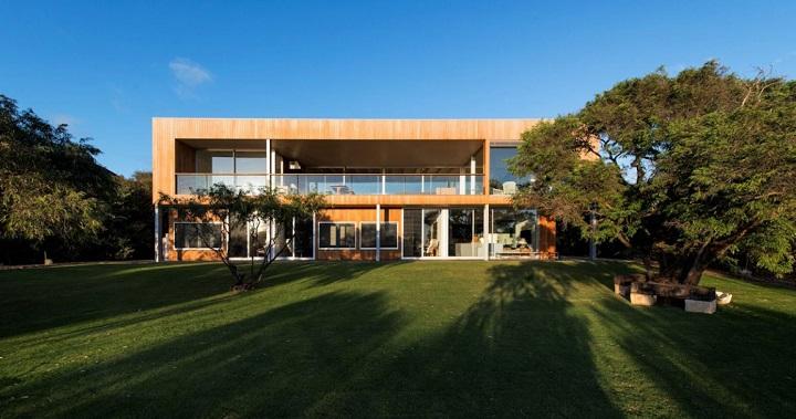 Casa de madera playa Australia