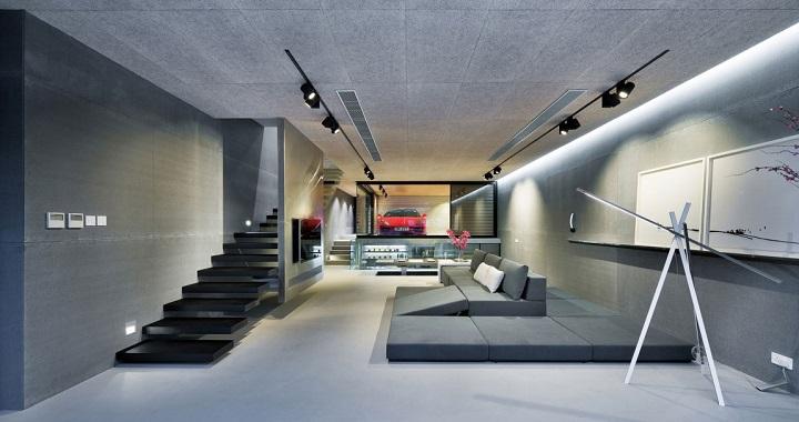Casa de lujo con garaje en el sal n en hong kong for Una casa di tronchi con garage