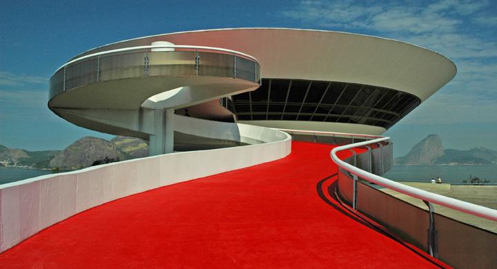 El Museo de Arte Contemporáneo de Niterói con forma de OVNI