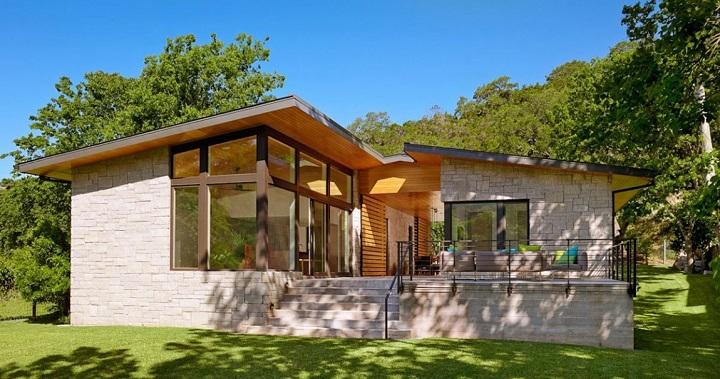 Moderna casa en el lago en Texas