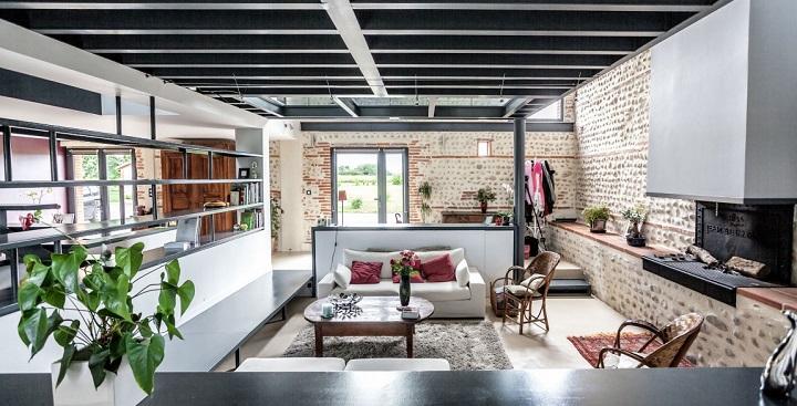 Casa de campo remodelada en francia for Casas de campo interiores