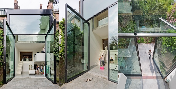 Decoarq arquitectura decorativa for Casas con puertas de vidrio