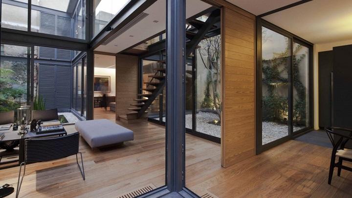 Casa con cuatro patios en ciudad de m xico - Estructura metalica vivienda ...