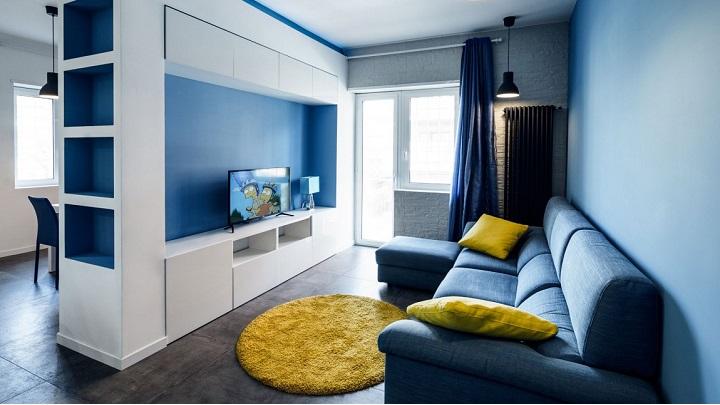 Prismatic Blue Apartment Roma1